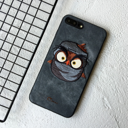 Phone case embroidery Funny devil, ..
