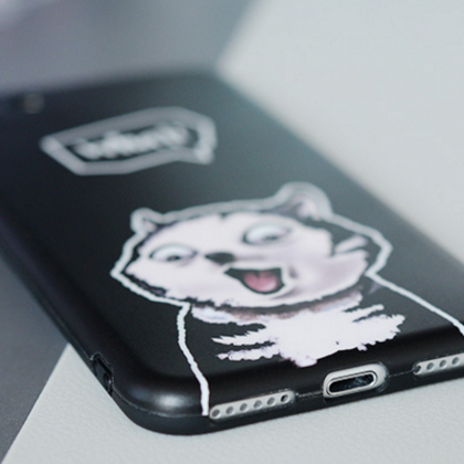 Phone case cute funny husky dog bla..