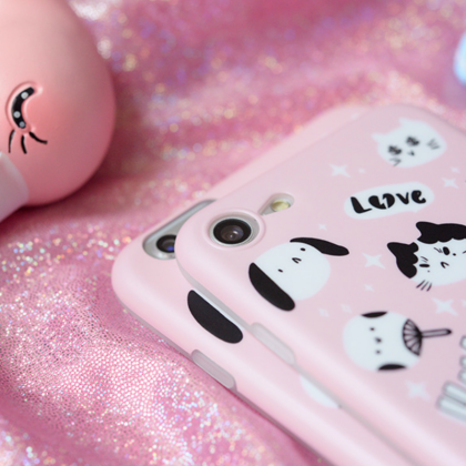 Phone case cute pet pink cat Animal..
