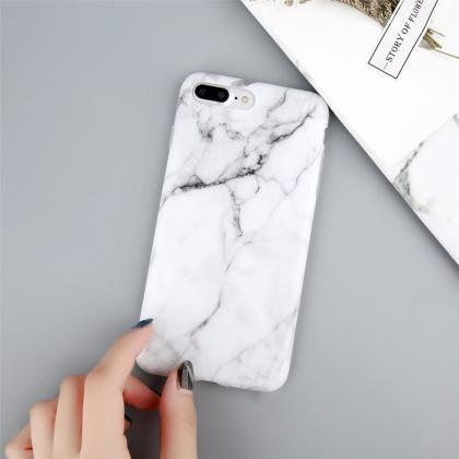 White Marble Battery Power iPhone C..