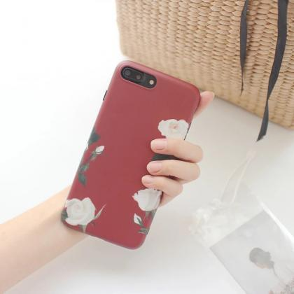 Clear Phone case Popular Plant Flow..