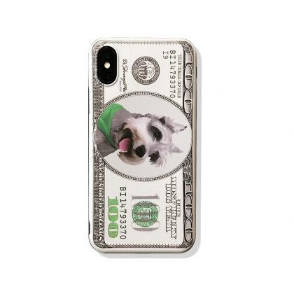 Phone case cute Schnauzer dog Anima..
