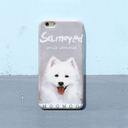 Phone case pet puppy Samoyed dog cu..