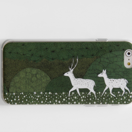 Phone cases deer decorations illust..