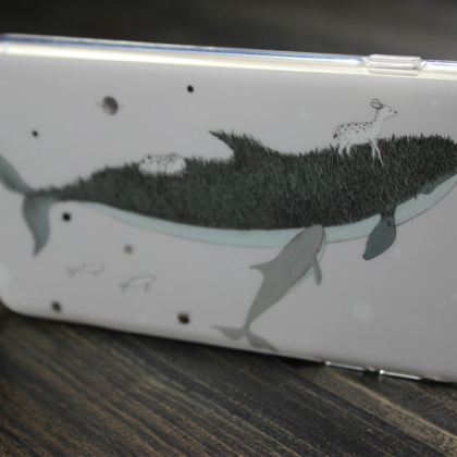 Phone cases Whale and white deer aw..
