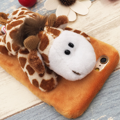 cute plush Animal Stand Giraffe iph..