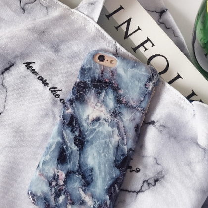 Phone cases hipster blue Marble coo..