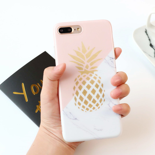 Phone case Popular Marbling Fruits Pineapple ins Tumblr iPhone 6,6s,6plus,6s plus,7,7plus,8,8plus, iPhoneX cases