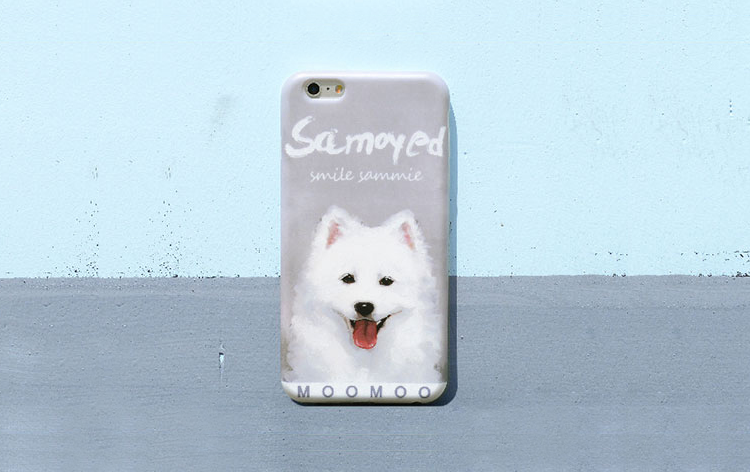 Phone case pet puppy Samoyed dog cute iphone7/8/7plus/8plus cases covers accessories smart phone cases phone skins