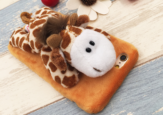 cute plush Animal Stand Giraffe iphone6,iphone6s, iphone6plus,iphone6splus cases covers accessories smart phone cases phone skins