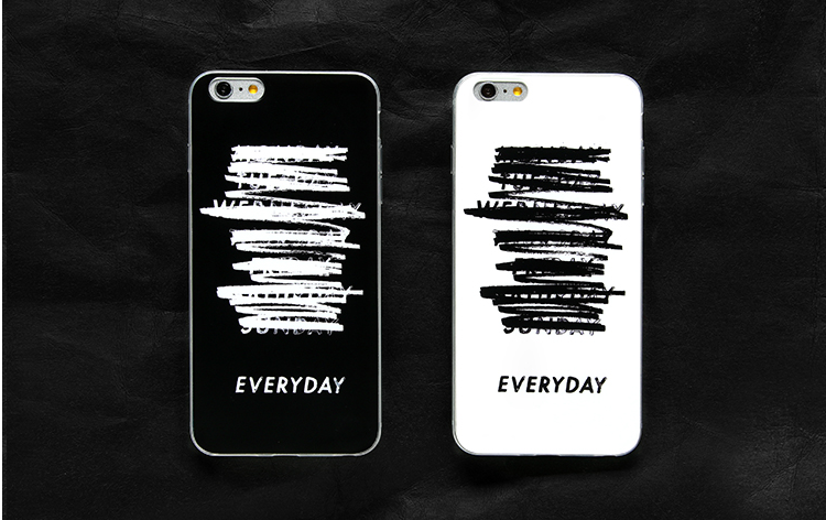 Black Fringe couple letter simple stylish ideas phone case iphone5,5s,iphone6,6s,iphone6plus,6splus cases covers accessories smart phone cases phone skins