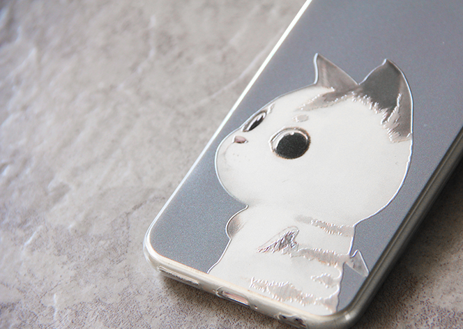 Phone case White cat cute funny awesome Animal iphone5/5s/6/6s/6plus/6spluscases covers accessories smart phone cases phone skins