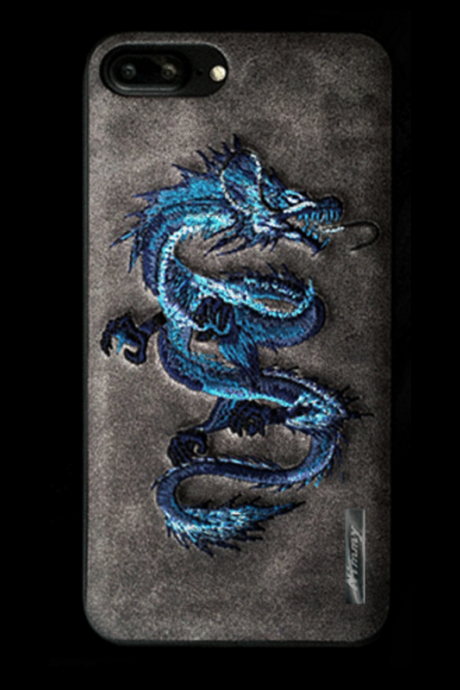Phone case dragon embroidery awesome cool For teens couples iphone 6s,6s plus,7,7plus cases covers accessories smartphone cases phone skins