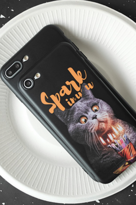 Phone case cute pet black cat Animal Tumblr iPhone 6,6s,6plus,6s plus,7,7plus,8,8plus, cases covers accessories smartphone cases phone skins