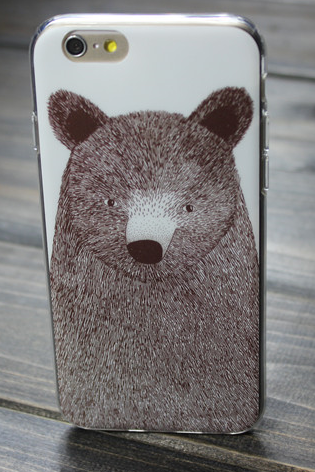 Phone cases bear awesome for teens cool iphone5,5s,6,6s,6plus,6splus cases covers accessories smart phone cases phone skins