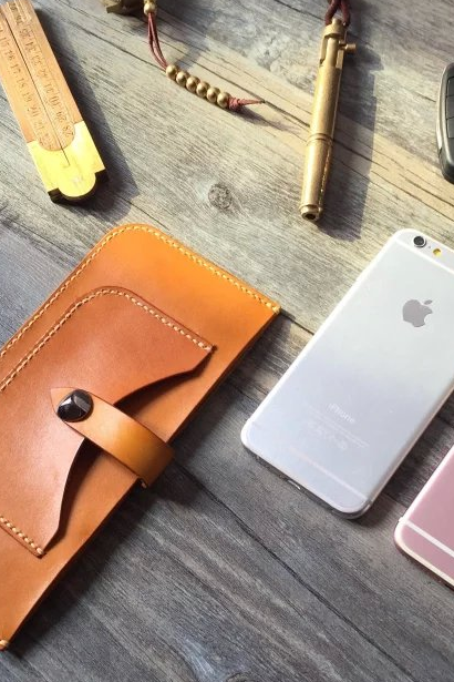 Retro handmade leather Hand stitched Wallet iPhone 5/5s/6/6s/6plus/6splus cases covers accessories smart phone cases phone skins