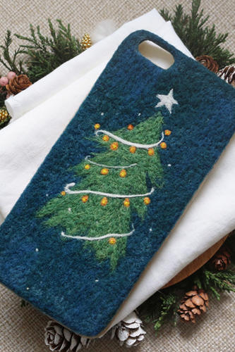 Phone case Handmade needle felted felting cute animal project Christmas tree iphone 6/6s/6plus/6splus cases covers accessories smartphone cases phone skins