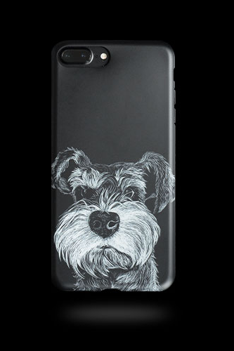 Phone case cute Schnauzer dog black Animal Tumblr iphone 6,6s,6plus,6s plus,7,7plus cases covers accessories smartphone cases phone skins