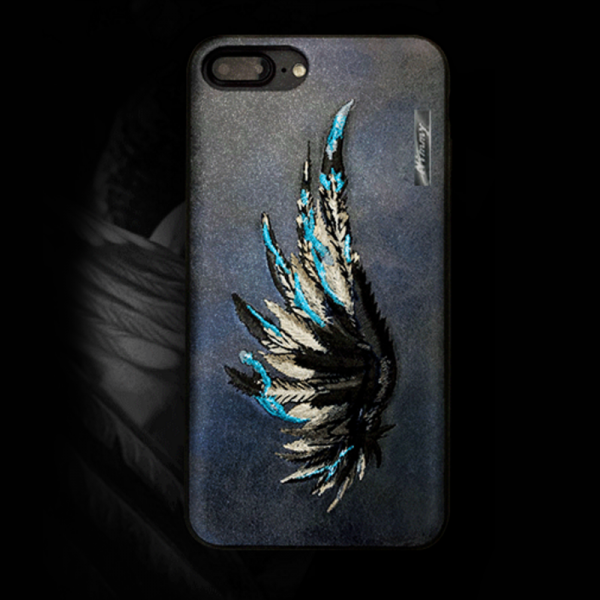 Phone case wing embroidery awesome cool For teens couples iphone 6s,6s plus,7,7plus cases covers accessories smartphone cases phone skins