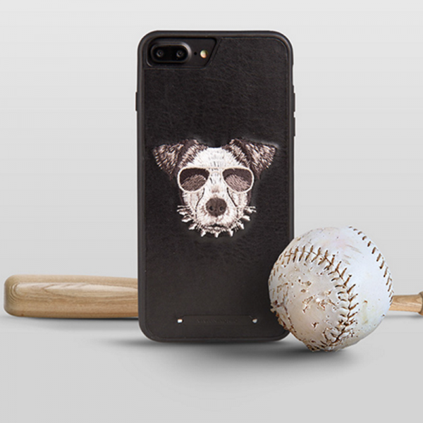 Phone case Black Baseball dog embroidery animal awesome cool For teens iphone 6s,6s plus,7,7plus cases covers accessories smartphone cases phone skins