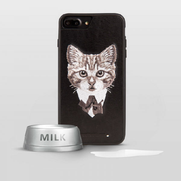 Phone case Black Cat embroidery animal awesome cool For teens iphone 6s,6s plus,7,7plus cases covers accessories smartphone cases phone skins