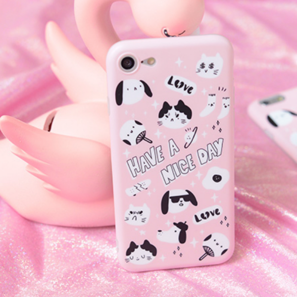 Phone case cute pet pink cat Animal Tumblr iPhone 6,6s,6plus,6s plus,7,7plus,8,8plus, cases covers accessories smartphone cases phone skins