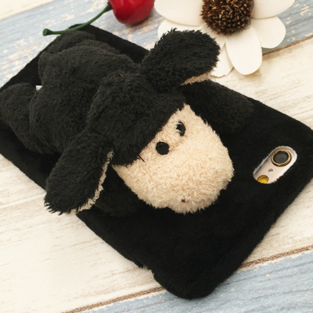 cute plush Animal Stand black sheep iphone6,iphone6s, iphone6plus,iphone6splus cases covers accessories smart phone cases phone skins