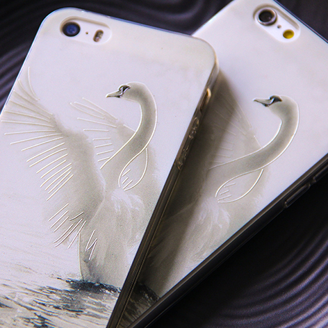Phone case Beautiful white Swan cut exquisite awesome Animal iphone5/5s/6/6s/6plus/6spluscases covers accessories smart phone cases phone skins