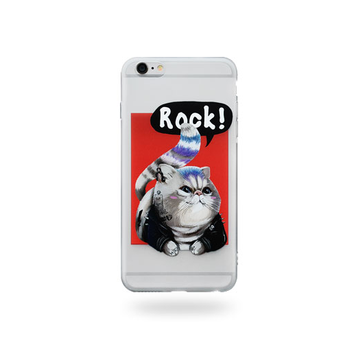 Phone case rock cat Animal awesome cool couple iphone 6,6s,6plus,6s plus,7,7plus cases covers accessories smartphone cases phone skins